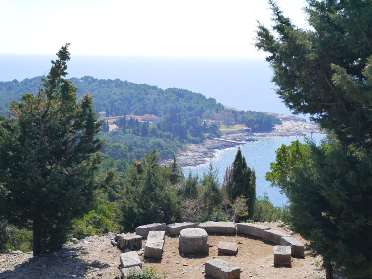 View Of Monastery & Small Bay From Fort Royal Castle, Lokrum Island