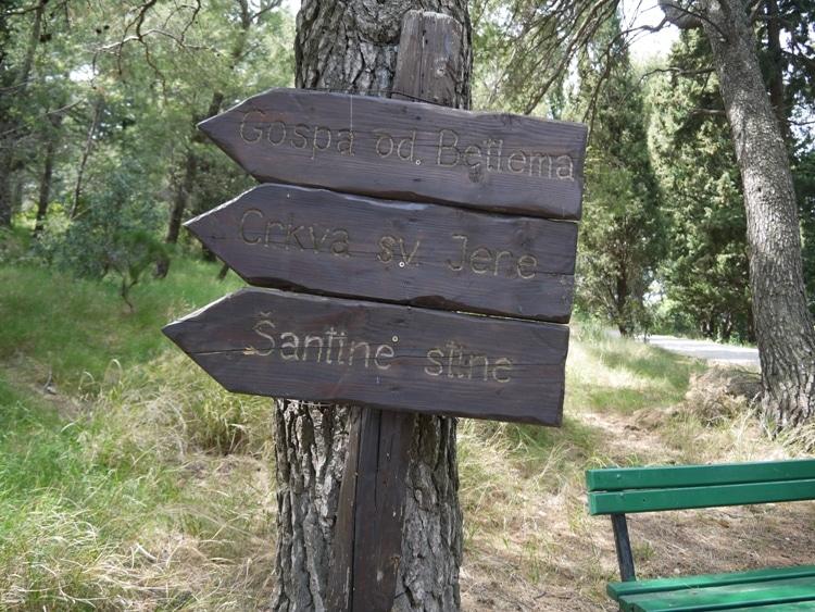 Direction arrows near Marjan Hill, Split Croatia
