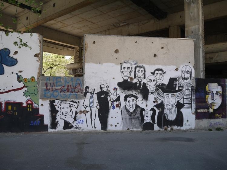 Graffiti In Mostar, Bosnia