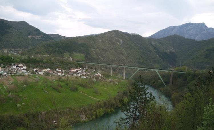 A Bridge Crossing The Valley Floor - Mostar To Sarajevo Bus