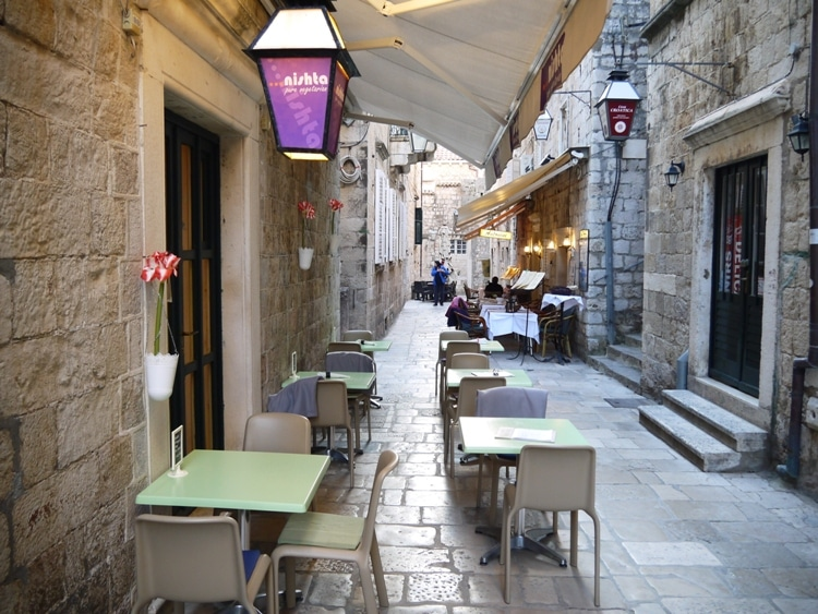 Outside Seating At Nishta, Dubrovnik
