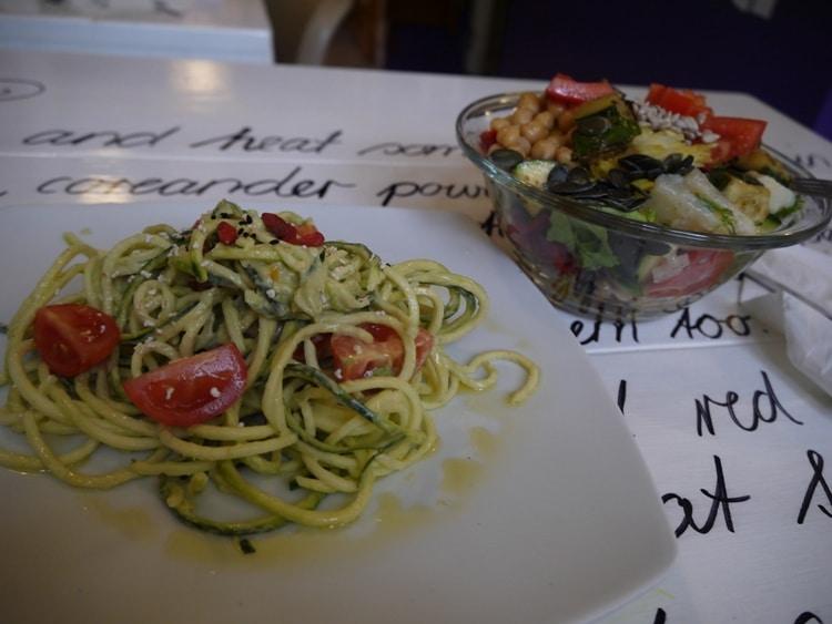 Zelenilo (Raw Spaghetti) & Salad At Nishta, Dubrovnik