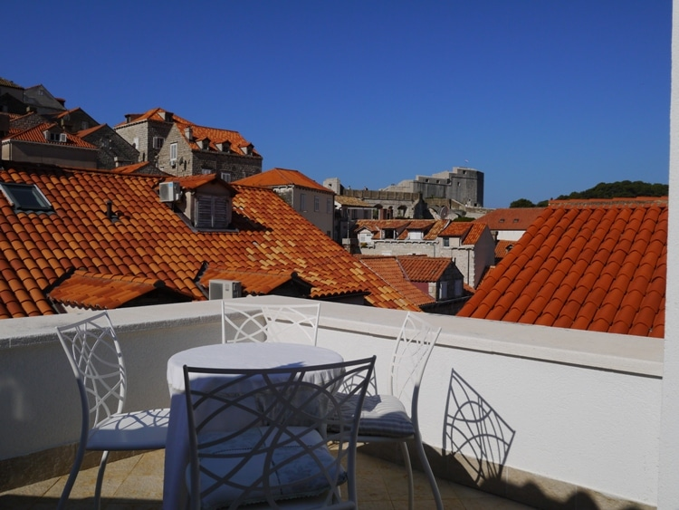 Roof Terrace At Old Town Ivory Apartments, Dubrovnik