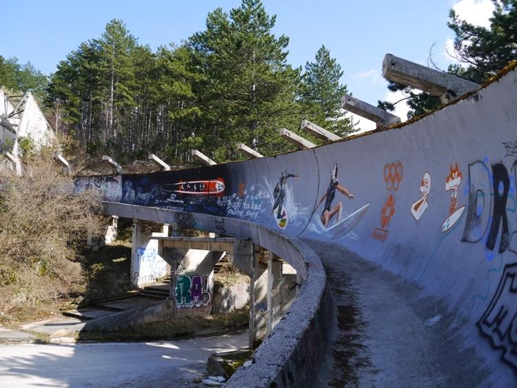 Abandoned Olympic Bobsleigh Track, Sarajevo