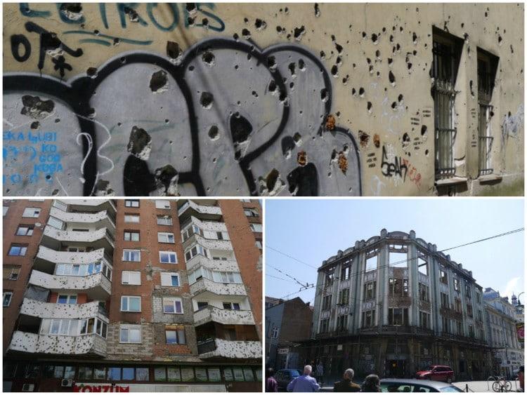 War Damaged Buildings, Sarajevo