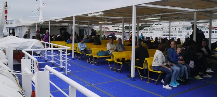 Outside Deck On The Split To Stari Grad Ferry