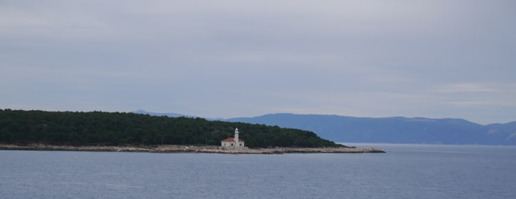 The Ferry Passing The Island Of Brac