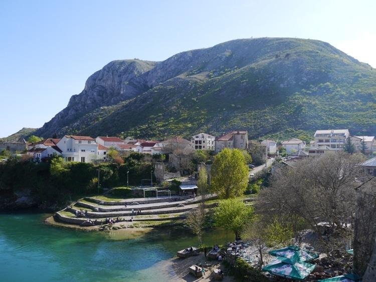 Looking Down From Stari Most, Mostar, Bosnia