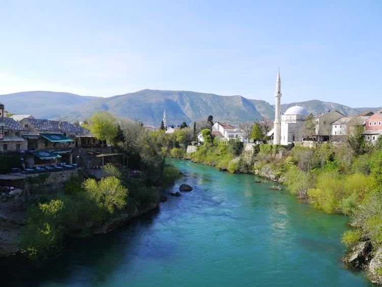 River Neretva & Koski Mehmed Pasha Mosque, Mostar