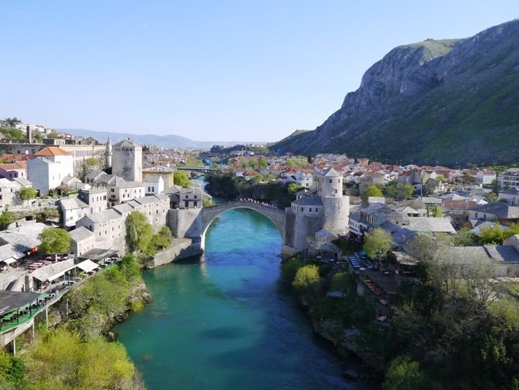 River Neretva & Stari Most, Mostar, Bosnia