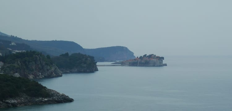 View Of Sveti Stefan Island From The Bus