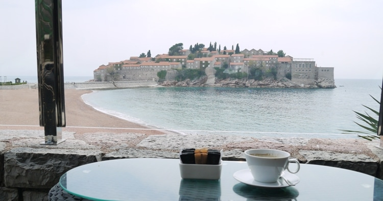 Coffee With A View At Olive, Sveti Stefan, Montenegro
