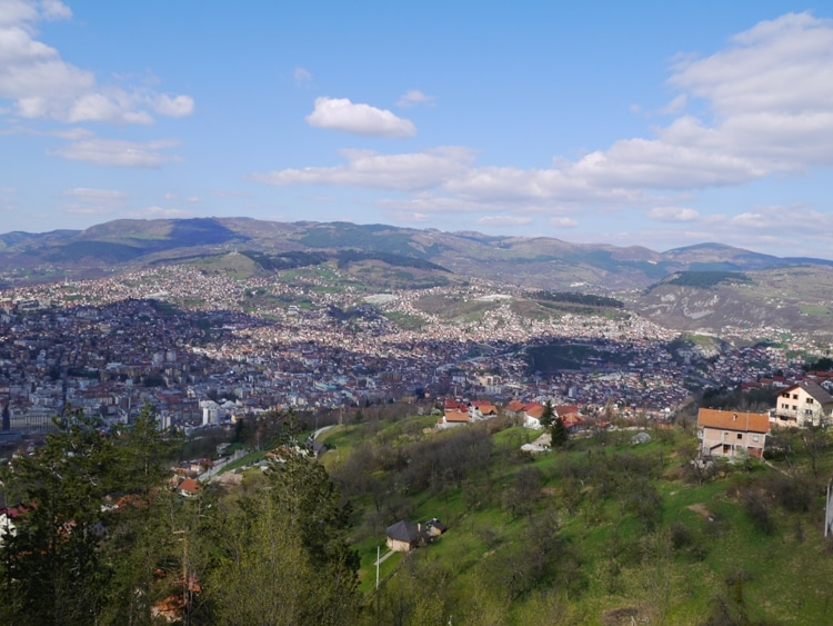 View Of Sarajevo From Trebevic Mountain
