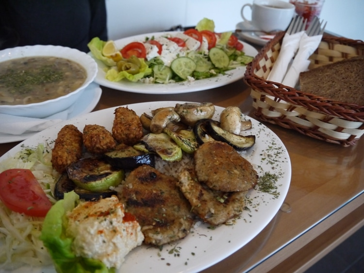 A Selection Of Vegan Food At Veggae, Sarajevo, Bosnia