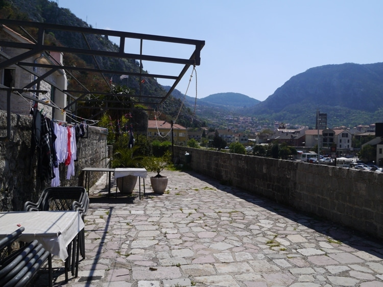 City Wall Terrace At Villa Ivana, Old Town Kotor, Montenegro