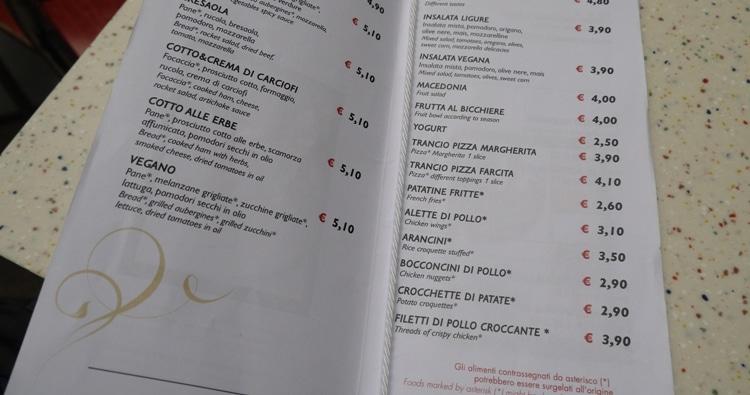 Vegan Food At Genoa Train Station