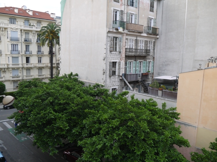 View From Bathroom Window At Hotel Star, Nice, France