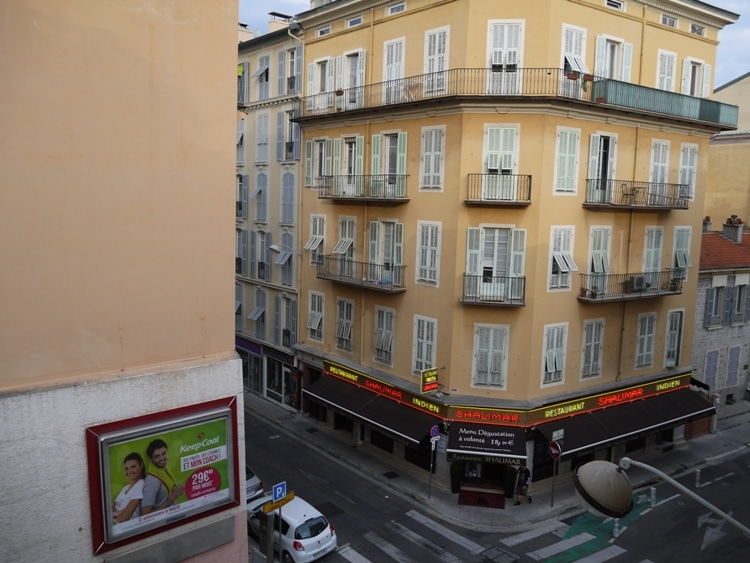 View From Bedroom Window At Hotel Star, Nice, France