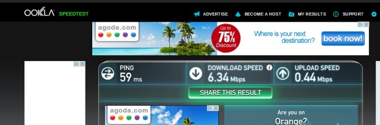 Internet Speed Test At Hotel Star, Nice, France