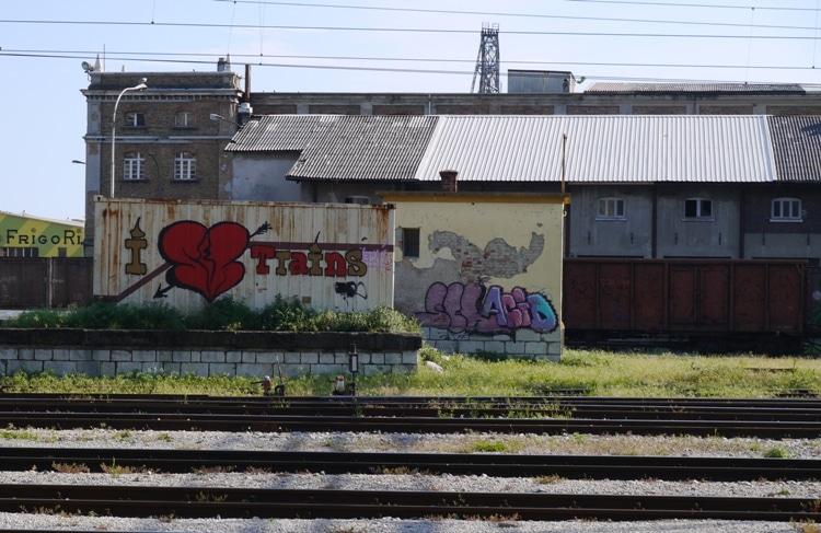 I Love Trains At Rijeka Train Station, Croatia