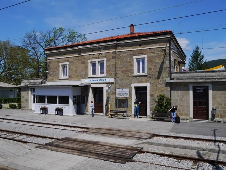 Ilirska Bistrica Train Station, Slovenia