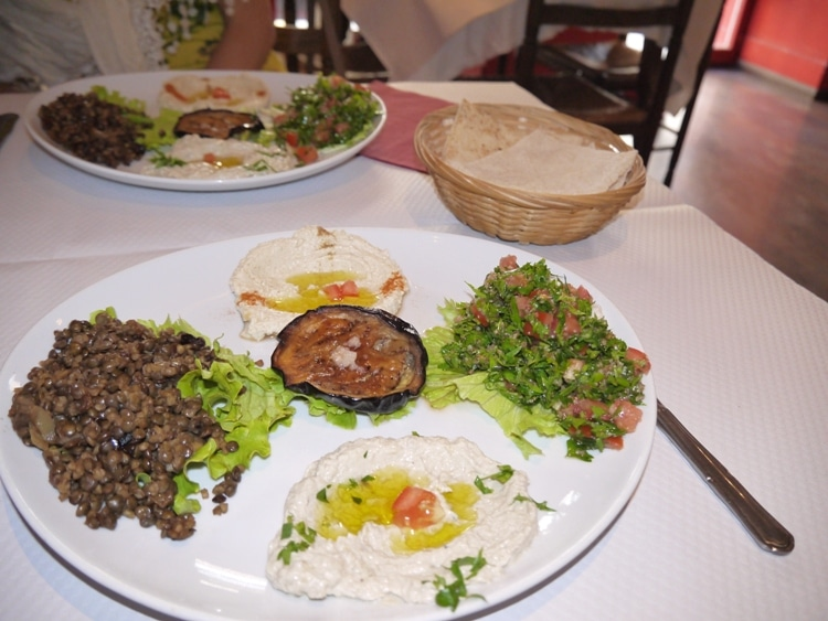Vegetarian Mezze At L'Olivier Lebanese Restaurant, Nice, France
