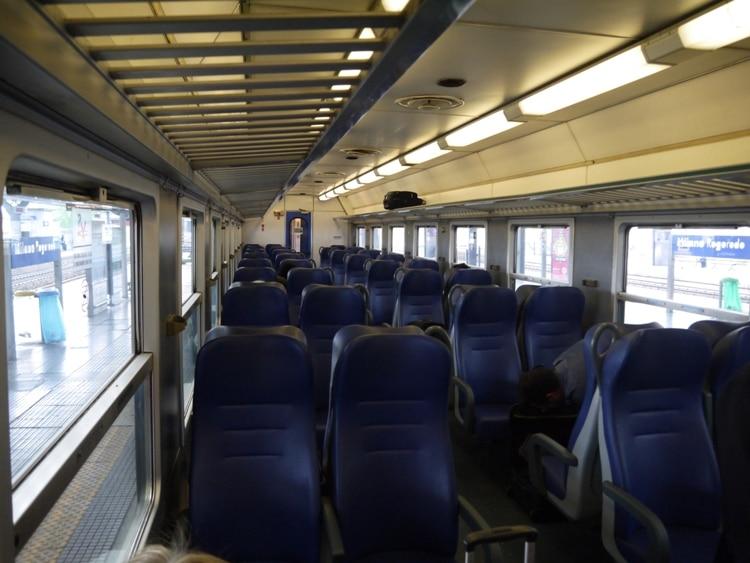 Milan To Genoa Train - 1st lass Carriage