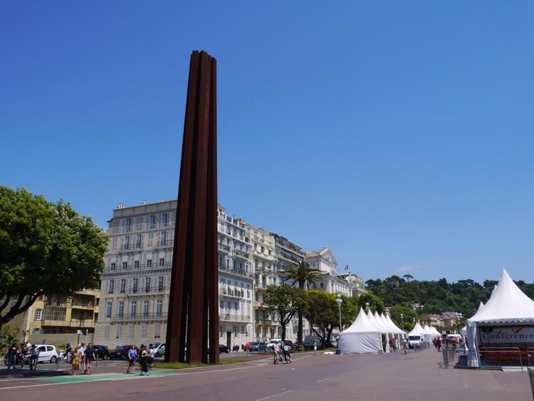 Sculpture At Esplanade Georges Pompidou, Nice, France