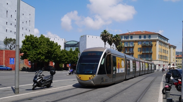 Tram, Nice City Center, France