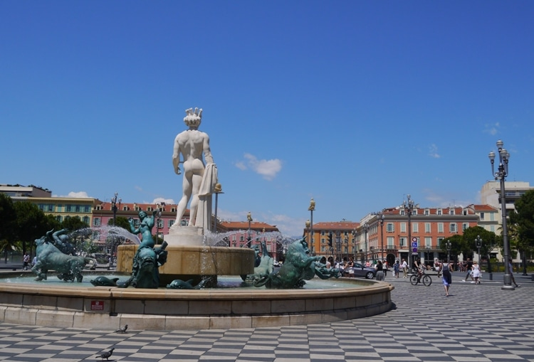 Fontaine Du Soleil (Fountain Of The Sun), Place Massena, Nice France