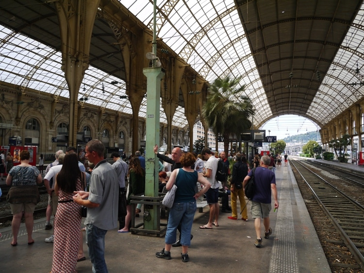 Waiting For The Train At Nice Ville Station