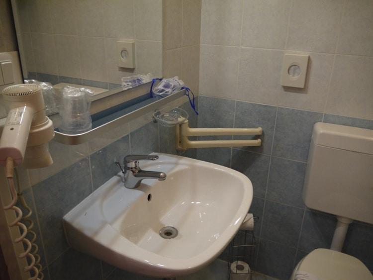 Bathroom At Nuovo Albergo Centro Hotel, Trieste, Italy