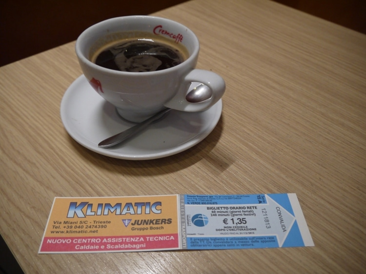 Buy Tickets At Villa Opicina Station Cafe