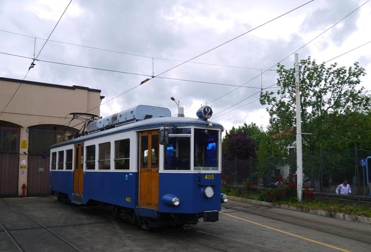 Trieste-Opicina Tram At villa Opicina Station
