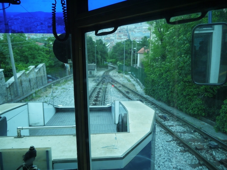 Looking Down The Funicular Section Of Track