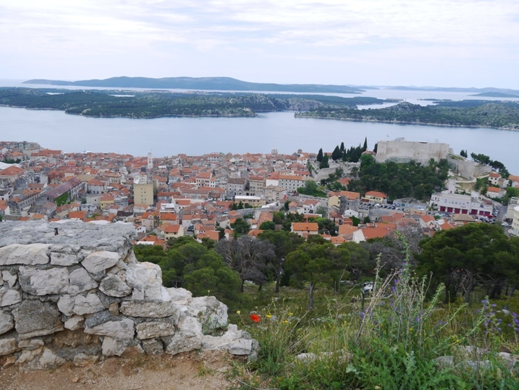 View Of Sibenik From St. John Fortress