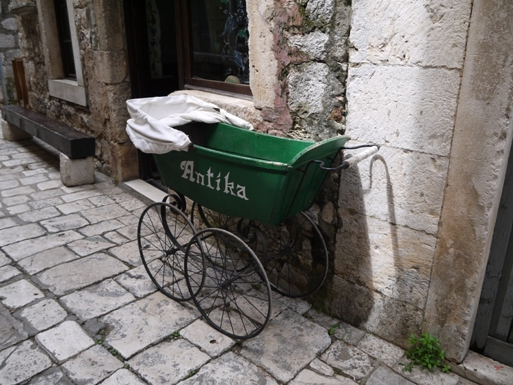 An Antique Pram In Stri Grad, Hvar