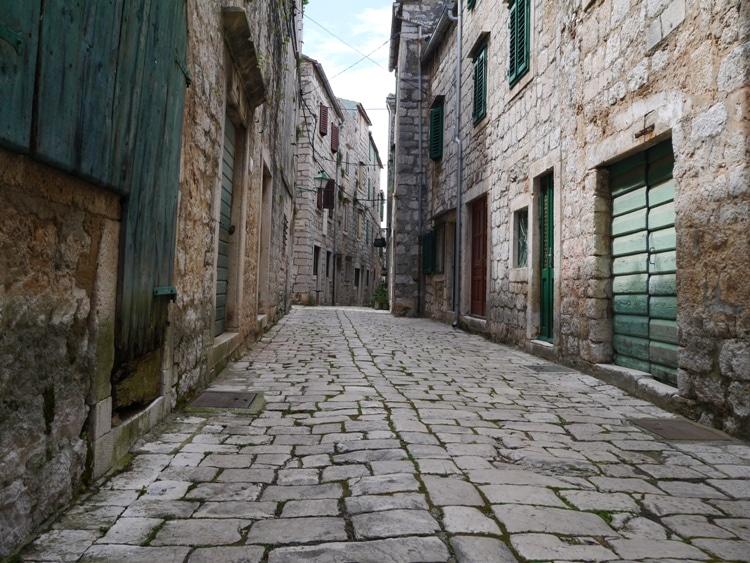 A Quiet Stone Street In Stari Grad, Hvar