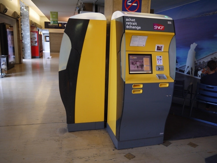 Ticket Machine At Nice Ville Station, France