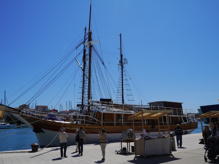 Boats Moored In Trogir