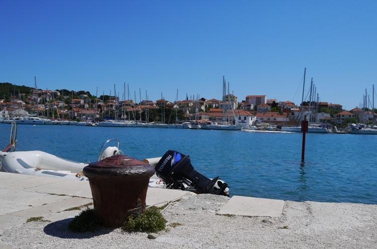 Looking Across To Ciovo Island From Trogir