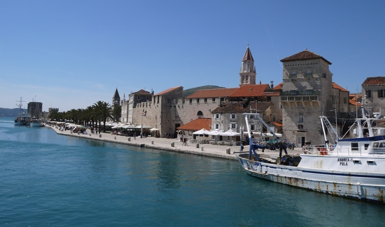 Looking Back At Trogir From The Trogir-Ciovo Bridge
