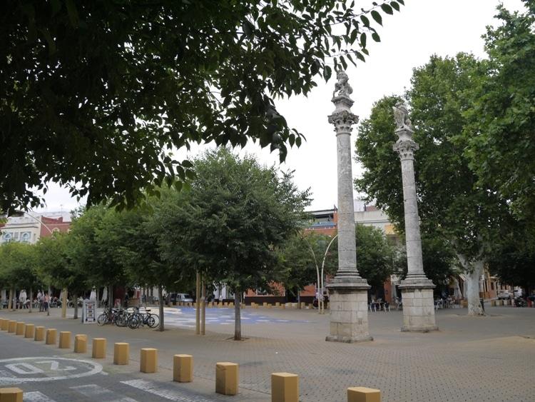 Roman Columns At Alameda De Hercules, Seville