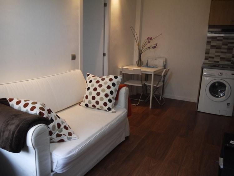 Living Room At Apartment Las Corralas de Servet, Madrid
