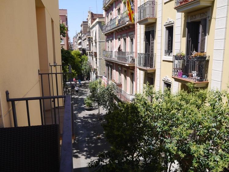 View From Living Room Balcony At Verdi Gracia Apartment, Gracia, Barcelona
