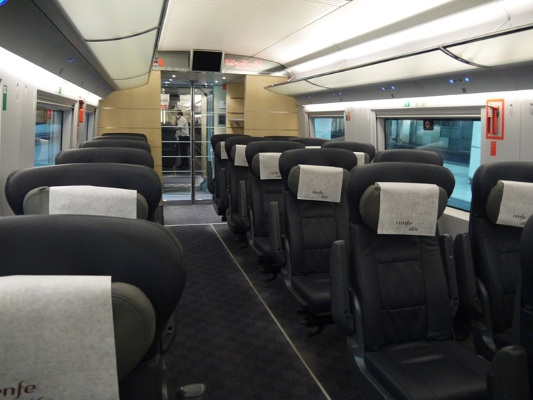 Comfortable Seats On Barcelona To Madrid Train