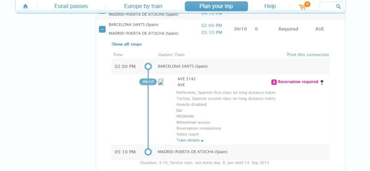 Barcelona To Madrid Train Times