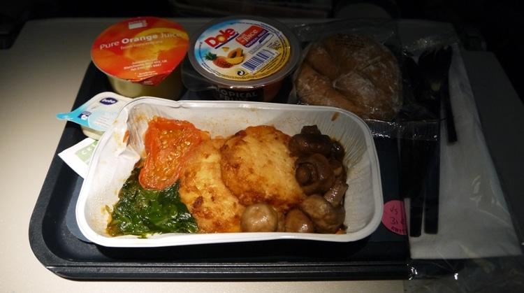 Breakfast On Board The British Airways London To Bangkok Flight