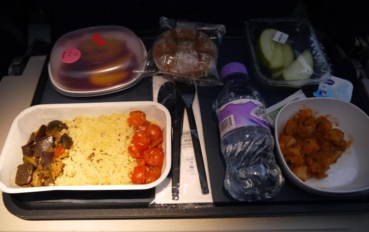 Dinner On Board The British Airways London To Bangkok Flight