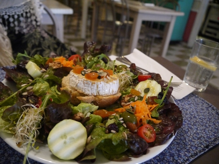Goat's Cheese Salad At Cafe Camelia, Gracia, Barcelona